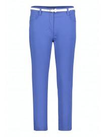 Spodnie kobaltowe z białym...
