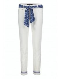 Bawełniane białe spodnie z...