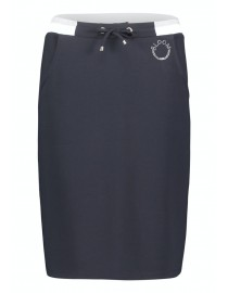Granatowa dresowa spódnica...