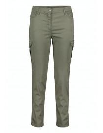 Oliwkowe spodnie z...