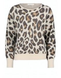 Kremowy sweter ze wzorem...